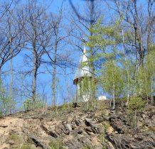 odbudowywana kaplica św.Anny na Górze Krzyżowej