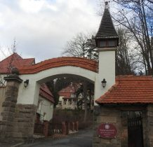 "Ladek Zdrój-brama pensjonatu""Villa Barbara z 1906 roku"