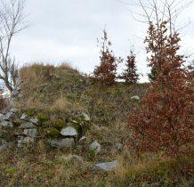 pozostałości po dawnym zamku