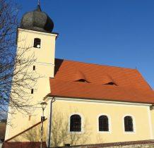 kościół z XVIII wieku na miejscu poprzedniego z 1591 roku