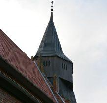 drewniana wieża kościoła