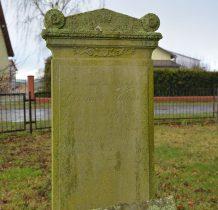 tablica nagrobna z XIX wieku