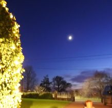 Sobieszewo-ostatni wieczór przy naszym mieszkaniu