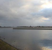 przy moście pontonowym na Martwej Wiśle