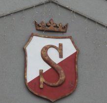 """herb Zwolenia z XV wieku(od łacińskiej nazwy """"Svolen"""")"""