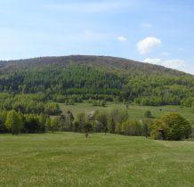 Po prawej nieliczne pozostałości po Bielicznej- nieistniejacej już wsi