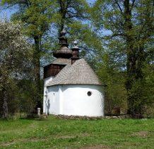 Cerkiew wzniesiona z kamienia i drewna
