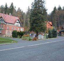 Międzygórze- zabudowa pensjonatowa w stylu norweskim i tyrolskim