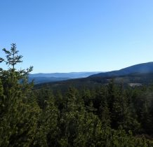 spod szczytu Czarnej Góry piękne rozległe widoki