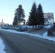 Dursztyn-parkujemy o poranku przy klasztorze, -9 stopni