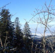 i ośnieżony szczyt Babiej Góry