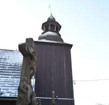 kwadratowa drewniana wieża