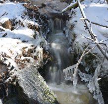 zimowy potok