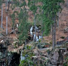 obszar rezerwatu z bezpiecznymi ścieżkami,tarasami widokowymi