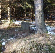 przy drodze -ostał się tylko kamienny cokół