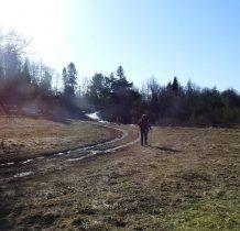 w czasie I wojny światowej na tych terenach toczyły się ciężkie boje o grzbiet Karpat-na drugi zakręcie na skraju polany szukamy nagrobków starego cmentarza