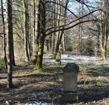 od strony lasu-w dole droga,po lewej polana