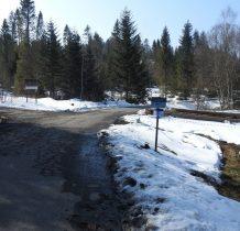prosto do Bukowca-my(za strażą graniczną) pójdziemy w lewo w kierunku nieistniejącej już wsi-Sokoliki Górskie