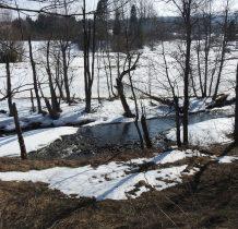na wysokości cmentarza i cerekwiska przechodzimy przez potok Halicz