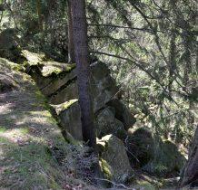 na skalistej zachodniej kulminacji Kamiennej Góry