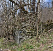 na zarośniętym zboczu koejne ruiny
