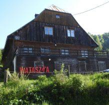 """dochodzimy do majątku dawnego Wolnego Sędziostwa-obecnie Dom Wypoczynkowy """"Wataszka"""""""