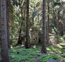 zbudowana z kamienia,miała wieżę i małą izbę przeznaczoną dla fundatora