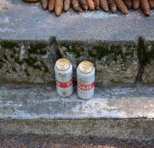 teraz stojąca-to dzieło z lat 1988-89-ktoś podarował Strażnikowi dwie pełne puszki piwa-na upalne dni przecież...