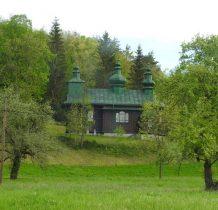 zabytkowa drewniana cerkiew zbudowana w latach 1888-1889