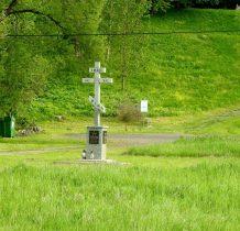 krzyż przy cerkiewnym parkingu
