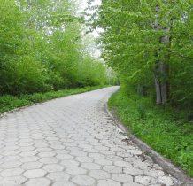 przed dawnym PGR-em schodzimy w prawo na betonową drogę